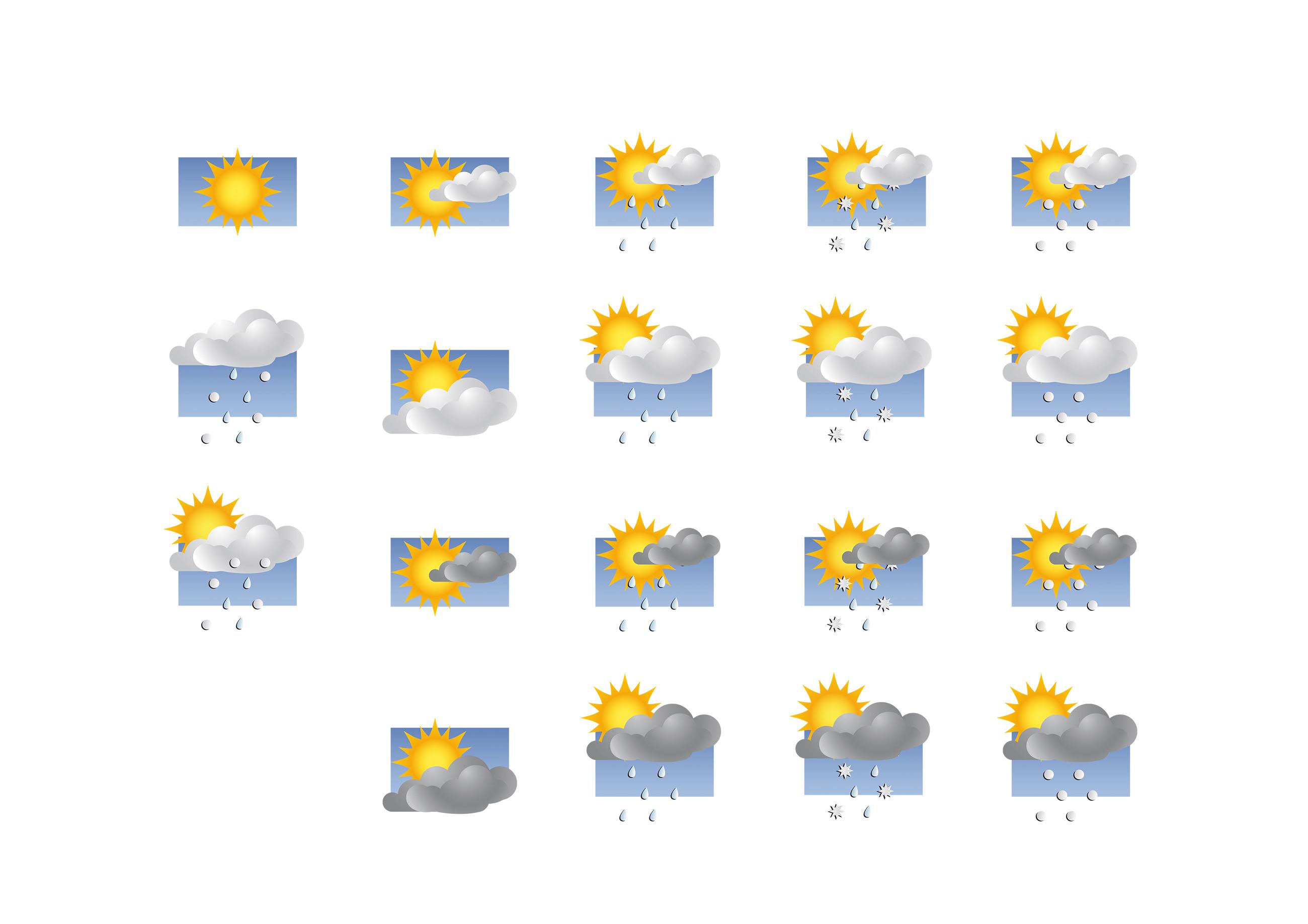 Ikons für Wetter.de